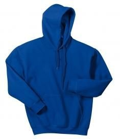 Gildan  100% Cotton Hoodie with Left Chest Embroidery