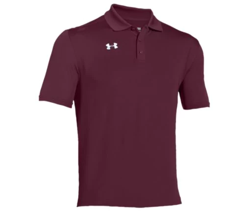UA Performance Polo with Embroidered Logo on Left Chest