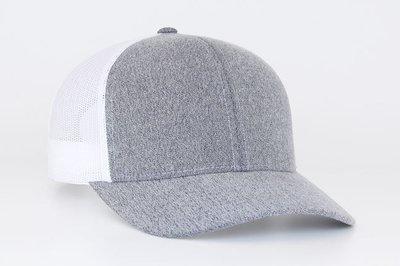 WA Pacific 110C Heathered Trucker Mesh Hat w/ embroidered logo