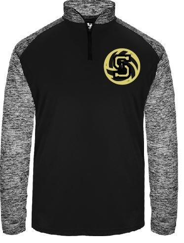 Badger 1/4 Zip w/embroidered logo