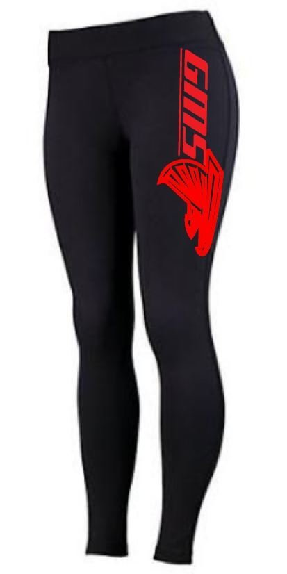 Augusta Brush Back Leggings w/screened logo