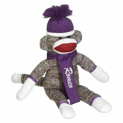 Personalized Sock Monkey Embroidered with Child's Name
