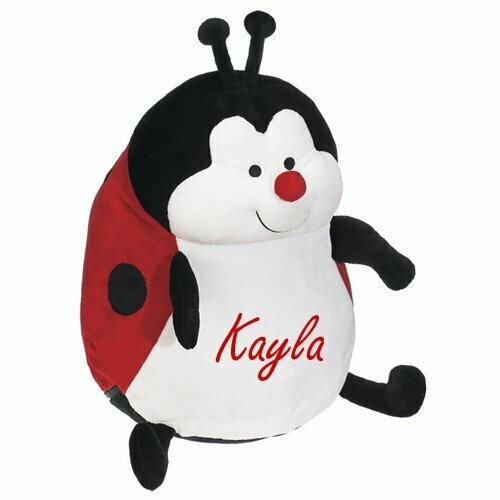 Lady Bug Plush Personalized Stuffed Animal embroidered children's gift and sleepwear storage