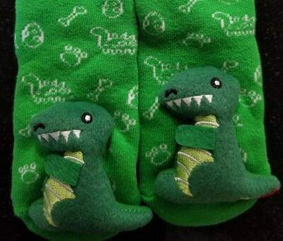 Plush Stuffed Animal Socks Lil Traveler Comfortable Warm Dinosaur Toddler Discovery Feet Finders