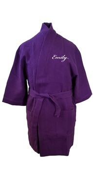 Personalized Cotton Waffle Monogrammed Robes Embroidered