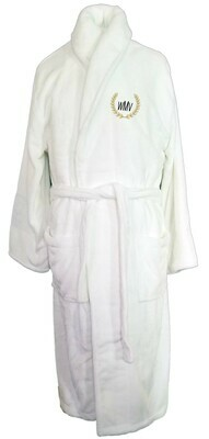 Microfiber Plush Luxury Robe Monogram Personalized White