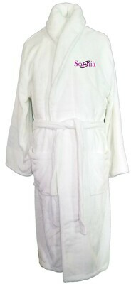 Women's Microfiber Plush Luxury Robe Monogram Personalized White