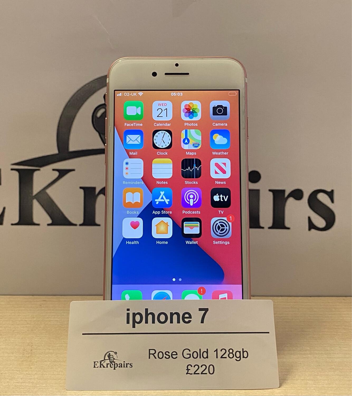 iPhone 7 Rose Gold - 128gb