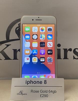 iPhone 8  Rose Gold - 64GB