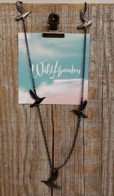 Wild Abandon Large Necklace - Black Birds