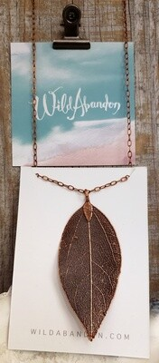 Wild Abandon Large Necklace - Copper Leaf