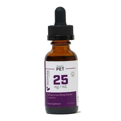 Receptra CBD Oil For Dogs 50-160 lbs (25mg)