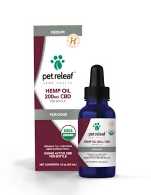 Pet Releaf Hemp Oil (200 mg) CBD - 1-100 lbs