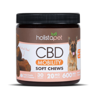 HolistaPet CBD Mobility Chews for Dogs 60-120 lbs (600mg)