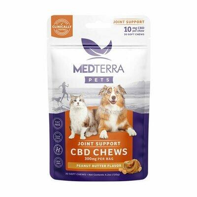 MedTerra CBD Treats For Dogs 5-50 lbs (300mg) Peanut Butter
