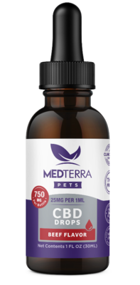 MedTerra CBD Oil For Dogs and Cats (750mg) Beef Flavored