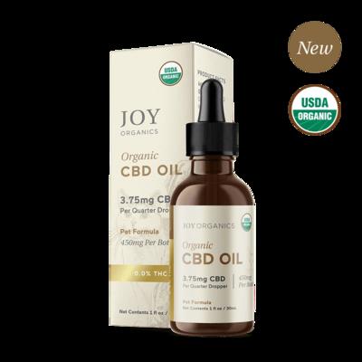 Joy Organics CBD Oil For Dogs 5-160 lbs (450mg)