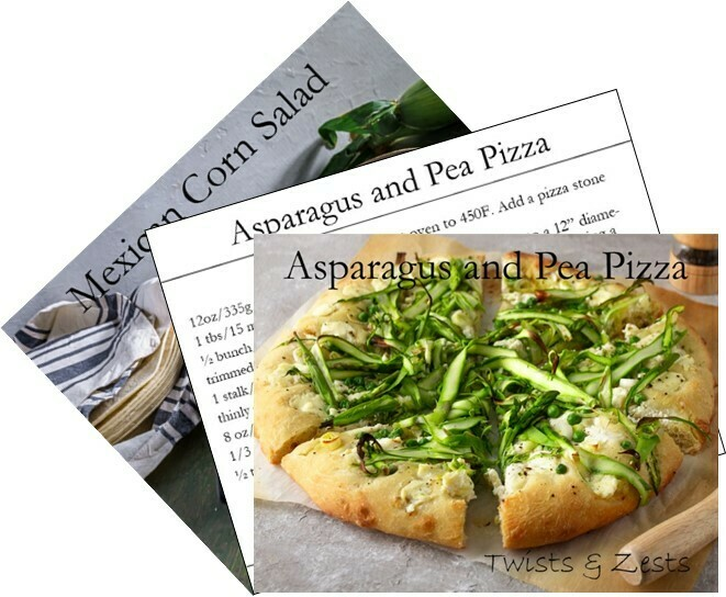 5 Sets of Recipe Cards