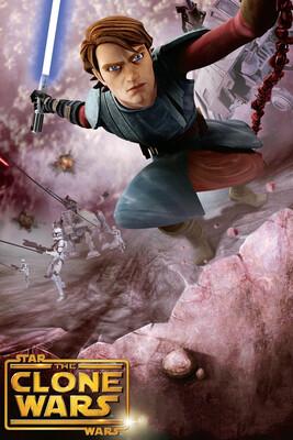 Signed print - Star Wars: The Clone Wars - Anakin Skywalker