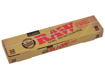 Raw Classic 32pk King Size Cones