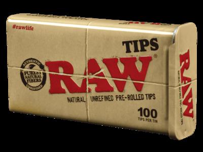 Raw Tips Prerolled 100ct Tin