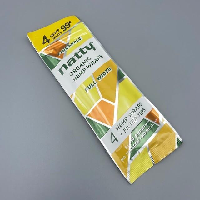 Natty Full Length Hemp Wrap Pineapple 4pk