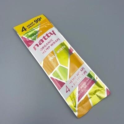 Natty Full Length Hemp Wrap Mango 4pk