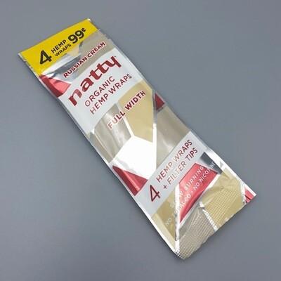 Natty Full Length Hemp Wrap Russian Cream 4pk
