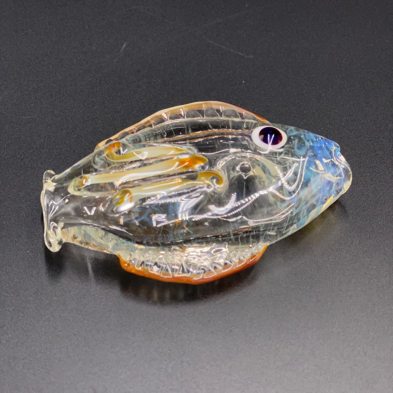 Senoih (FL) Fish Pipe - Fume w Red Eye