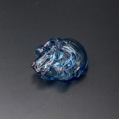 Grime Glass (CO) Skull Pendant - Blue Dream
