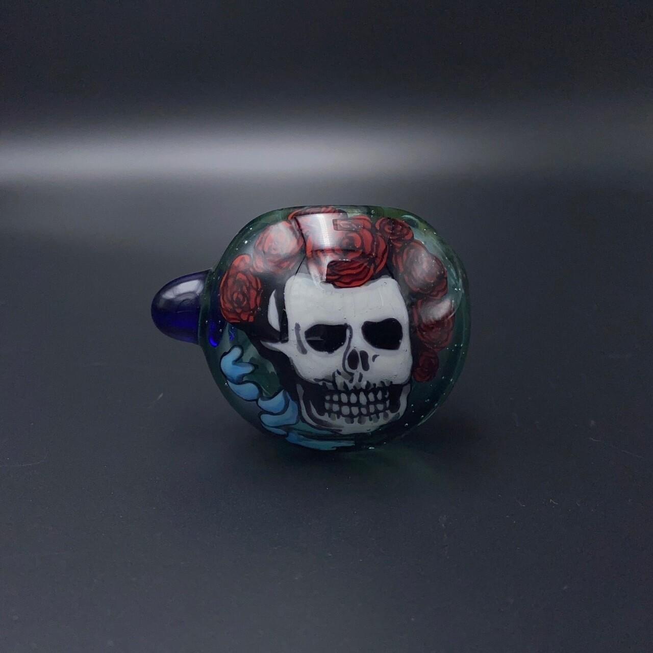 Chillery Bogart (CO) Image Spoon - Skull w. Rose