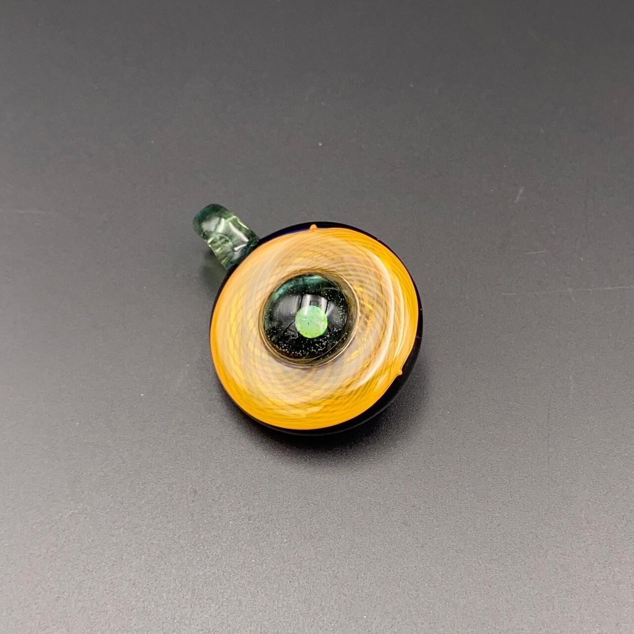 Nib Glass (FL) Fumicello Pendant w Opal - Green