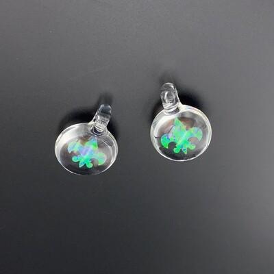 Cajun Glass (CO) Opal Pendant - Fleur De Lis Shape
