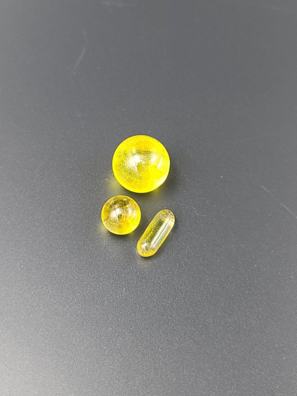 Lid Glass (FL) Terp Slurper Set - Yellow