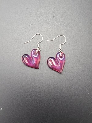 Marni (CO) Solid Heart Earring Set - Pink