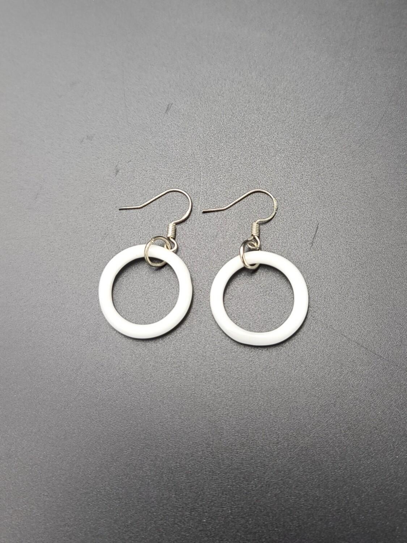 Marni OG Ring Earring Set - White