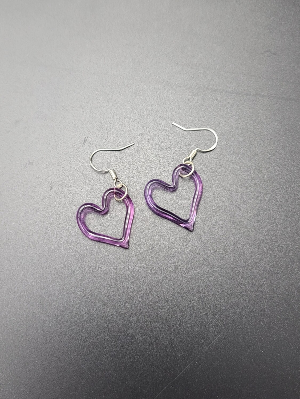 Marni (CO) Heart Outline Earring Set - Purple