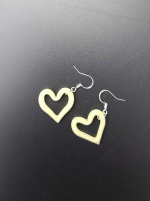 Marni (CO) Heart Outline Earring Set - Tan