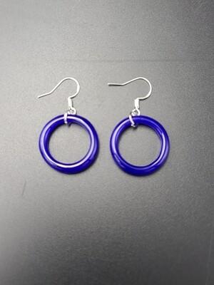 Marni OG Ring Earring Set - Deja Blue