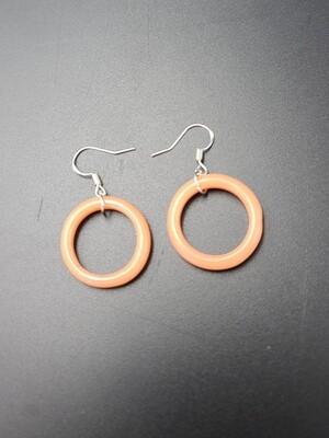 Marni OG Ring Earring Set - Plastique (Peach)