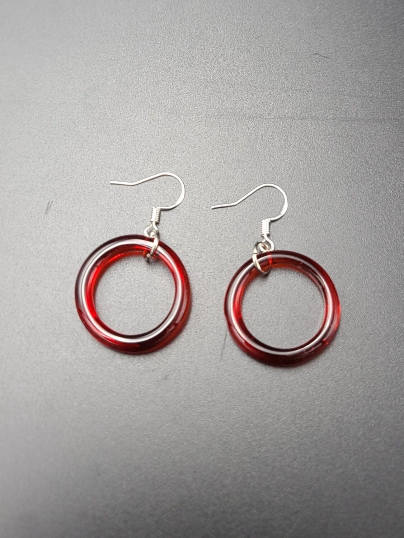 Marni OG Ring Earring Set - Red