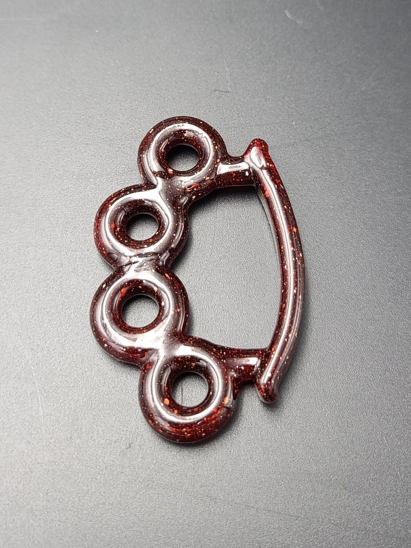 Smiff (FL) Brass Knuckle Pendant - Red Blizzard