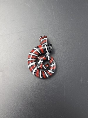 Sugarshack (OR) Abstract Pendant - Cherry/Steel Wool/White