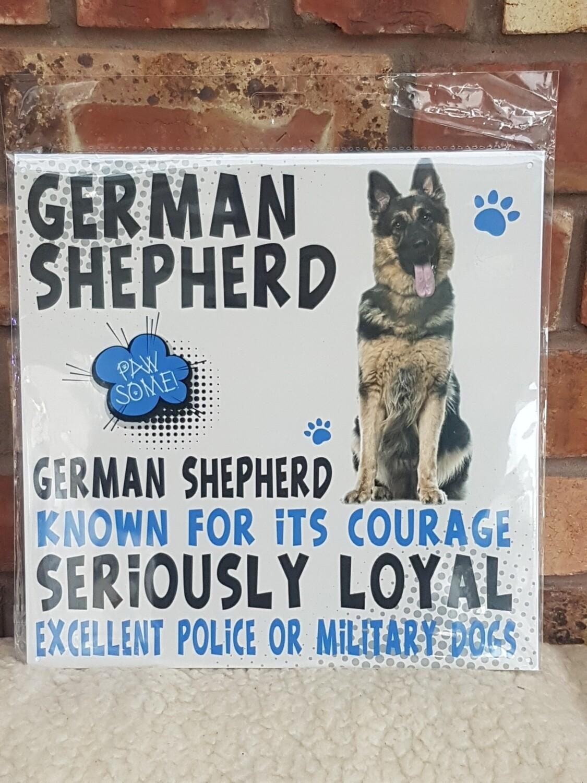 German shepherd Doggy signs