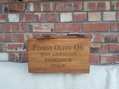 Olive oil crate