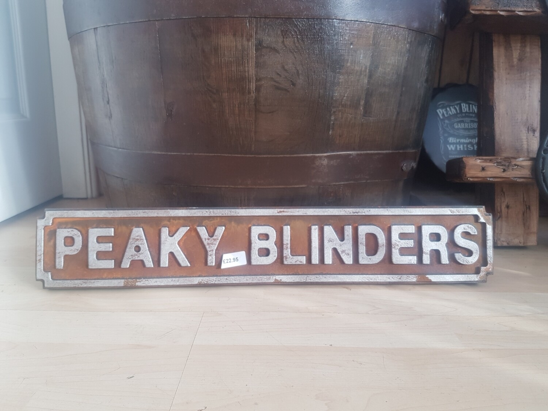 Peakyblinders wood sign