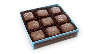 9pc sea salt caramel milk chocolate