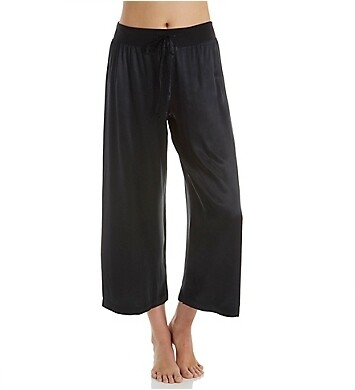 PJ Harlow Jolie Capri Satin Pants Black L
