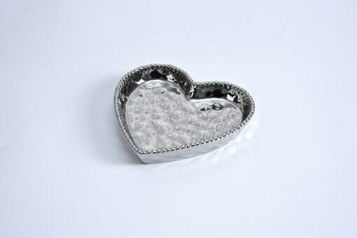 Porcelain Mini Heart Dish by Pampa Bay