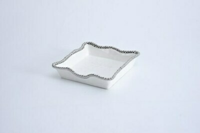Pampa Bay White and Silver Lunch Napkin Holder